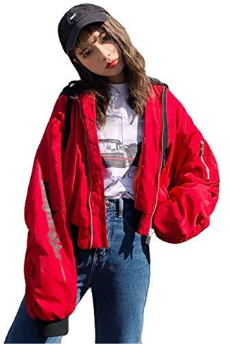 Pattern Fashion Sportivo Lunga Chic Cute Autunno Donna Libero Pilot Bomber Relaxed Giacca Con Eleganti Ragazze Primaverile Cappuccio Rot Jacket Digitale Manica Tempo Baseball xwfIqYTq