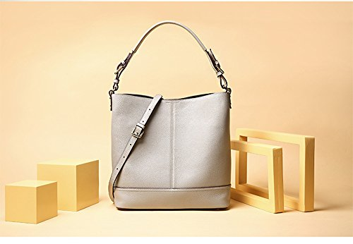 Handheld Body Leather Splash Bag Faux Women's Water Anti Simple Cross Stylish Quality Diagonal LLXY Grey High 7qTnx1
