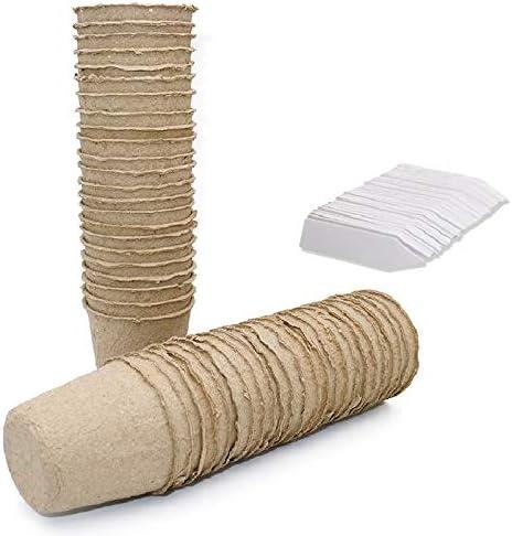 KINGLAKE Macetas de Semillas de Fibra Biodegradable pequeñas