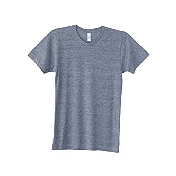 American Apparel Mens Triblend Track Tee (UK Size: 2XL) (Athletic Grey)