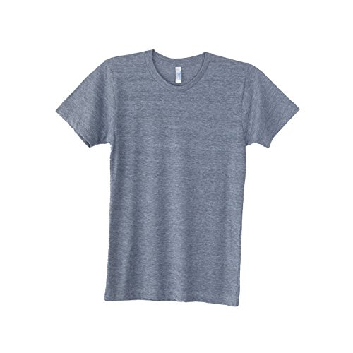 - American Apparel Mens Triblend Track Tee (M) (Athletic Gray)