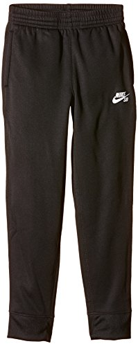 Nike SB Boys Therma Fit Fleece Training Pants Black White Medium