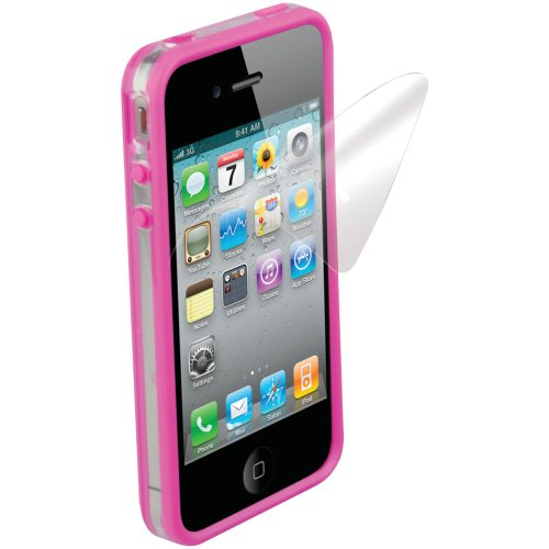 Scosche Clear Case (Scosche IP4EBKV Clear on Pink Polycarbonate & Rubber Edge Case for the New iPhone 4S and iPhone 4 (Verizon and AT&T))