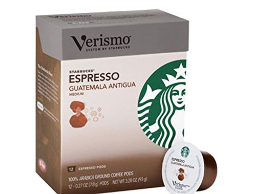 Starbucks Verismo Espresso Guatemala Antigua Coffee Pods, 72 Count