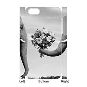 COMEON Diy Hard Case Elephant Customized 3D Case For Iphone 4/4s
