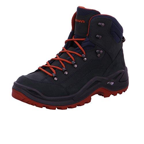 Lowa Renegade GTX Mid, Stivali da Escursionismo Alti Uomo blu marino/ruggine