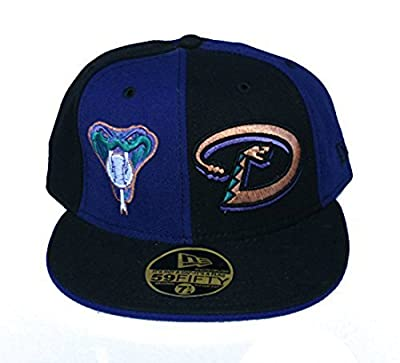 Arizona Diamondbacks New Era Fitted 7 Double Logo Purple & Black Hat