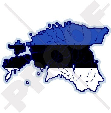 ESTONIA Estonian Map-Flag EESTI 4.5