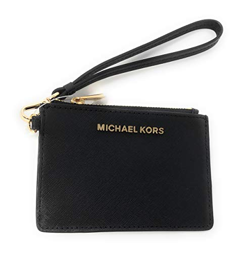 - Michael Kors Jet Set Travel Top Zip Coin Pouch ID Card Case Wallet Wristlet (Black)