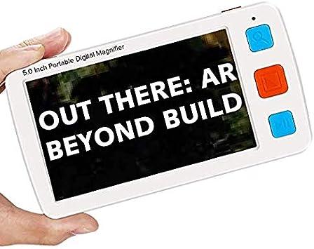 5 Zoll TFT LCD Elektronische Lesehilfe Leselupen,Tragbar 4X-32X Zoom Digital Lupe Elektronische Lesehilfe Sehhilfe Saiko Handportable Video Digital Magnifier