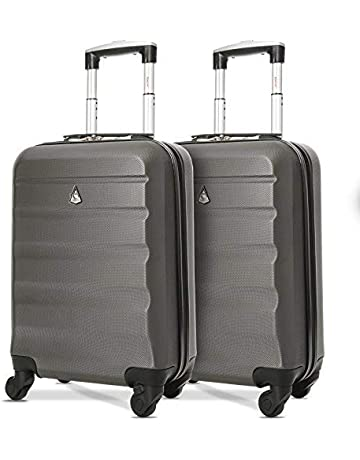2f2b0326be4 Save on Aerolite ABS Hard Shell Lightweight Luggage Travel Suitcase (Set of  2, Charcoal
