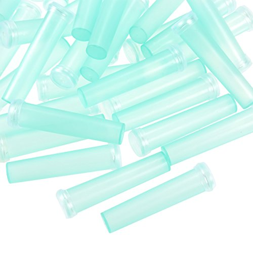 Flower Tube - 100-Pack Floral Tube, Flower Vials, Floral Water Tube for Flower Arrangements, Clear Blue Plastic, 0.6 x 2.8 x 0.6 Inches