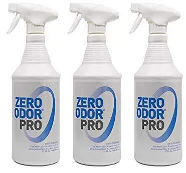 Zero Odor Pro - Commercial Strength Odor Eliminator - Neutralizer - Deodorizer - Smell Remover - Trigger Spray (32-Ounce) (Thrее Расk)