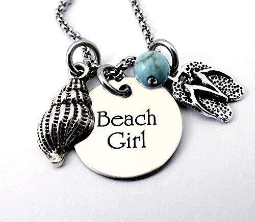 - BEACH GIRL FLIPFLOPS Necklace