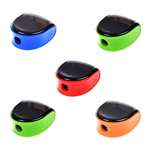 Cosmos 5 PCS Random Color Plastic Manual Pencil (Manual Pencil Sharpener)