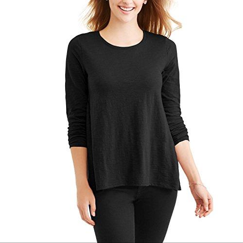 Faded Glory Women's Long Sleeve Scoopneck Soft Peplem T-Shirt Size - XX-Large (20) - Glory Womens Shirt