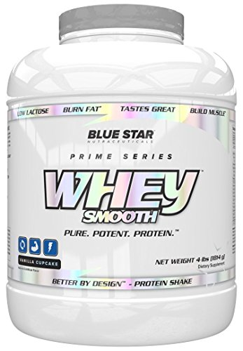Blue Star Nutraceuticals, Whey Smooth, Protein Vanilla Cupcake 4lbs Review