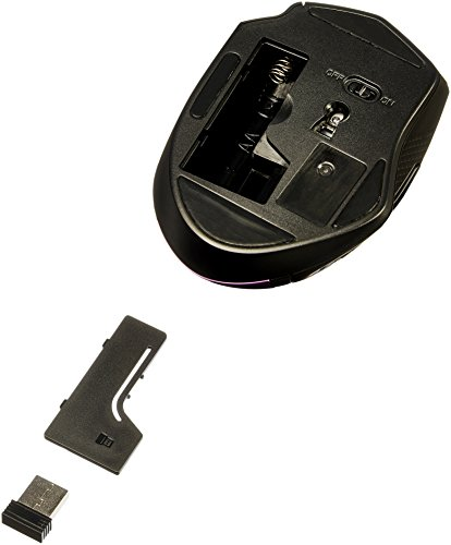 Amazon Basics Ergonomic Wireless PC Mouse - DPI adjustable - Purple