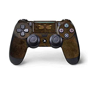 Skinit Decal Gaming Skin for PS4 Pro/Slim Controller – Officially Licensed Tate and Co. Steampunk & Gear Dragonfly Design
