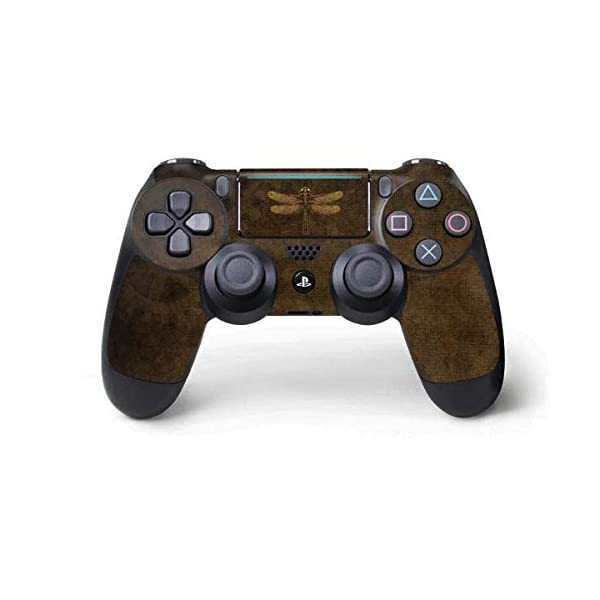 Skinit Decal Gaming Skin for PS4 Pro/Slim Controller - Officially Licensed Tate and Co. Steampunk & Gear Dragonfly Design 3