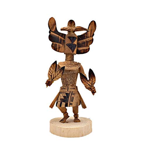 Artist Signed Genuine Navajo Native American Tribe Handmade in the USA 6 Inch Authentic Crow Mother Kachina Doll by Robert Platero Southwestern Collectible Figurine Natural Materials