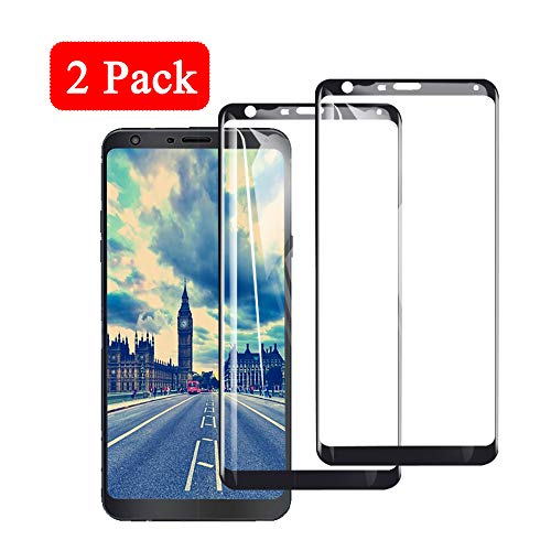 【2 Pack】 Compatiable With Lg Stylo 4 Screen Protector L G Stylo4 Tempered Glass  Gl S Tylo Lg4 Protectors Lgstylo4 Phone Protective 3D Full Coverage Film【 Anti-Scratch 】【 Bubble-Free】 6.2 Inch (Black)
