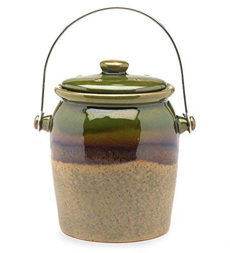 1 Gallon Glazed Earthenware Compost Crock