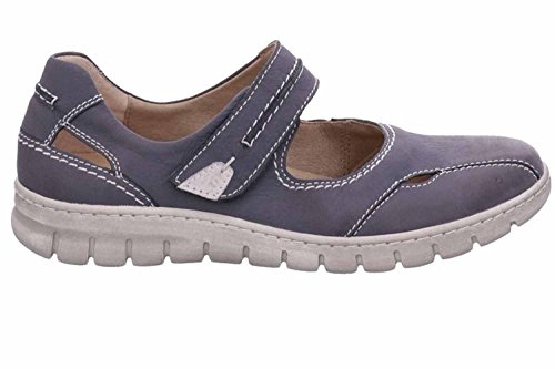 Seibel Blue Flats Women's Kombi Lace Jeans up Josef qXx6Udwvq