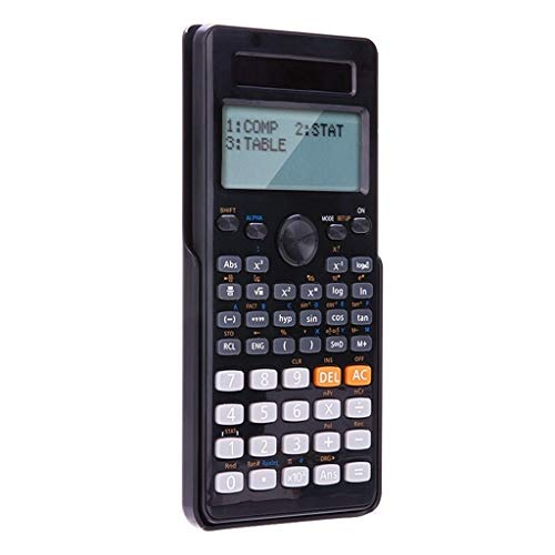 Mjd Calculator Calculator Dual Line Large Screen Display Scientific Calculator Dual Power Function Calculator for Small Junior High School Calculator (Color : Black) (Application Of Permutation And Combination In Real Life)
