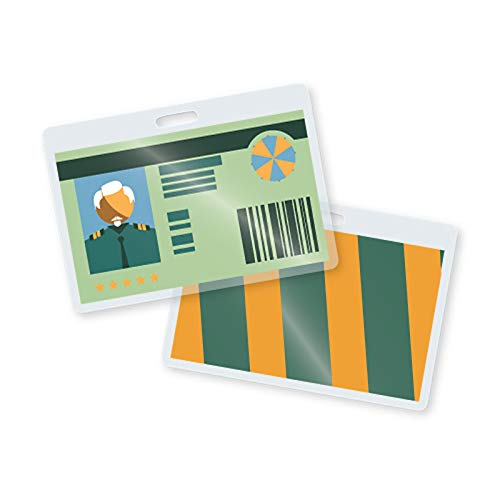 TruLam Laminating Pouches - Military Card Size - 2-5/8-Inch by 3-7/8-Inch - with Slot - 7 Mil Thickness - 500 Per Box - Compatible with Most Pouch Laminating Machines (Laminating Pouches Military)