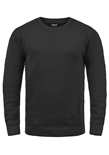 De 100 Con solid Karl Cuello Punto 9000 Algodón Black Suéter Hombre Para Jersey Redondo Uvxq0f1E