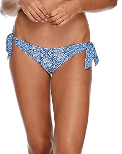 (Skye Women's Sash Tie Side Med Bikini Bottom Swimwear, Semeru Denim Print, Medium)