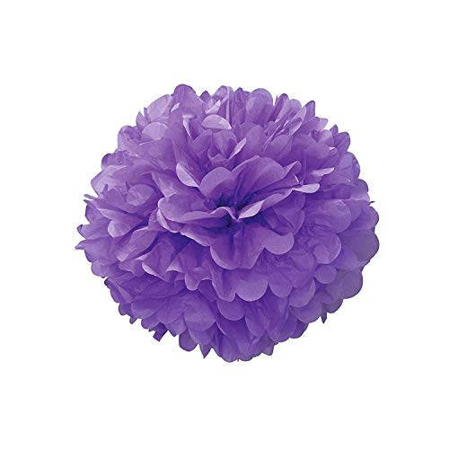 elecouble 5Pc 20 25 30Cm Wedding Decoration Flower Tissue Paper DIY Artificial Flowers Merry Christmas Decoration,Purple Paper Flower,30Cm 12 Inches
