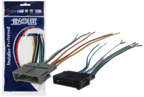 Absolute USA H634/1817 Radio Wiring Harness for Chrysler/Dodge Plymouth 1984-2002 Power 4 Speaker (70-1817, CWH-634)