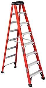 Louisville Ladder FS1408HD 375-Pound Duty Rating Fiberglass Step Ladder, 8-Feet