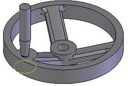 10.00 Dia. Satin Chrome w//Revolving Handle 3 Spoke Dished 5//8 Bore 4 Handle 1 Each Cast Iron Hand Wheel