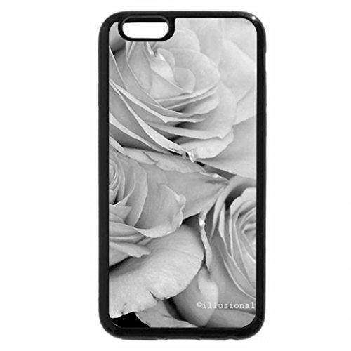 iPhone 6S Plus Case, iPhone 6 Plus Case (Black & White) - Creamy Rose