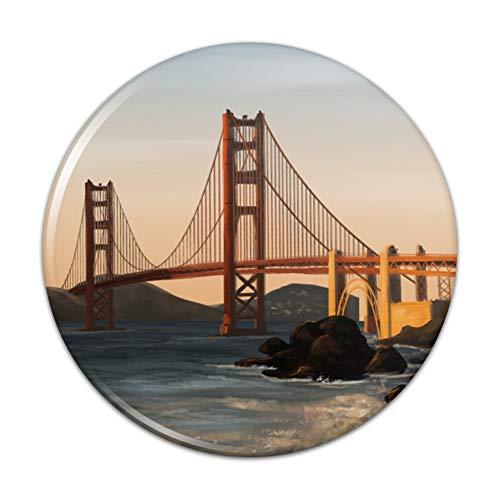 (Golden Gate Bridge San Francisco Compact Pocket Purse Hand Cosmetic Makeup Mirror - 3