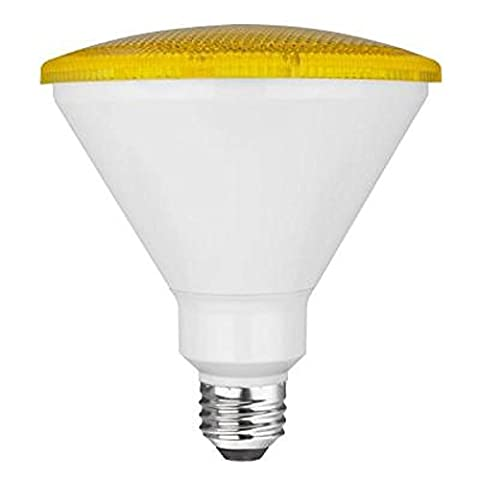TCP 90 Watt Equivalent LED PAR38 Yellow Flood Light Bulb (Bug Light), Non-Dimmable (1 Pack) - Yellow Cfl