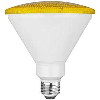Tcp 90 Watt Equivalent Led Par38 Yellow Flood Light Bulb