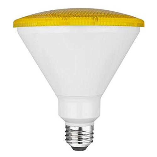 TCP 90 Watt Equivalent LED PAR38 Yellow Flood Light Bulb (Bug Light), Non-Dimmable (1 Pack) - Yellow Bug Light Bulb