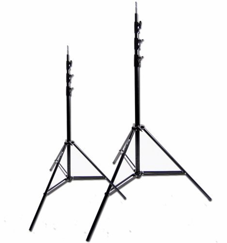 CowboyStudio Set of Two 12ft Heavy Duty Spring Cushioned Photo/Video Light Stands by CowboyStudio
