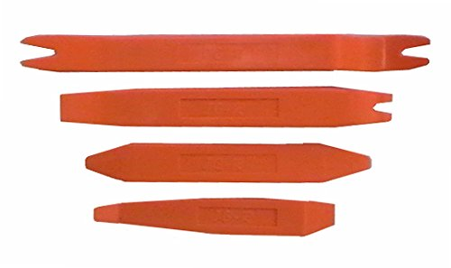 4 Pc Orange Nylon Panel Popper Set Auto Trim Door Panel Window Molding Upholstery Clip Removal Tool Kit Pry Bar Kit