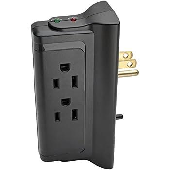 Tripp Lite 4 Outlet Surge Protector/Suppressor, Wall Mount Direct Plug-in, & $10K INSURANCE (TLP4BK)