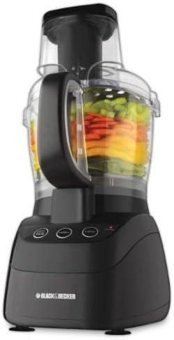 Black & Decker FP2500B PowerPro Wide-Mouth 10-Cup Food Processor, Black