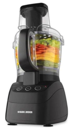 Black Decker FP2500B PowerPro Wide-Mouth 10-Cup Food Processor, Black