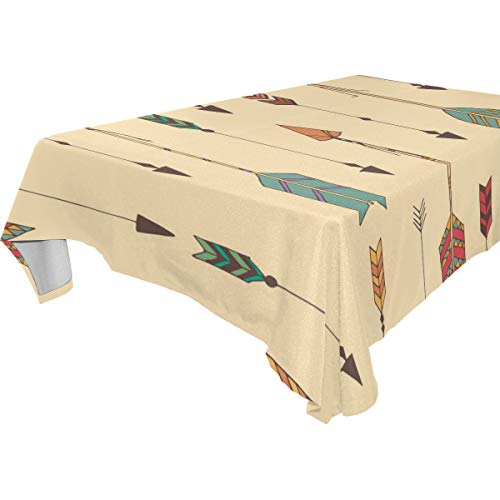 Dragon Sword Tribal Arrow Washable Polyester Tablecloth Table Cover for Kitchen Dining Room Parties Wedding, 60