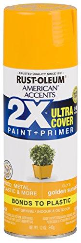 Rust-Oleum 327884-6 PK American Accents Spray Paint, Gloss Golden Sunset