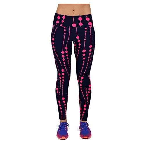 - VZEXA Women Pants High Waist Digital Pants Running Yoga Pants Nine-Minute Sport Pants Leggings(Red,XL)
