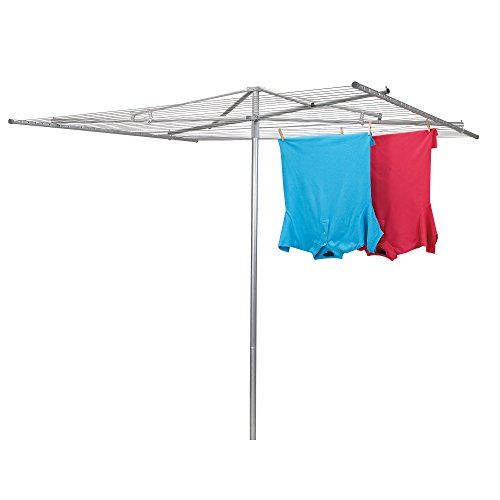 Household Essentials 4000 Outdoor Parallel Style Clothes Dryer with Steel Arms - 30 Lines to Hang Wet Laundry
